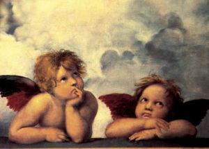 Postikortti, Raffaellon enkelit