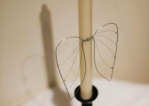 Valona Design - enkelinsiivet-kynttiläkoriste (hopeanvärinen)