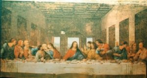 Ikoni: Viimeinen ateria (maalaus) 51a 10x4cm