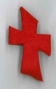 Huoparintaneula Risti, Punainen