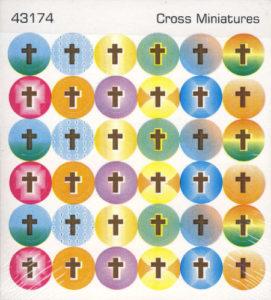 Tarrat: Pienet värikkäät ristit, 6 arkin setti