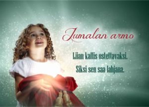 Joulukortti (Jumalan armo)