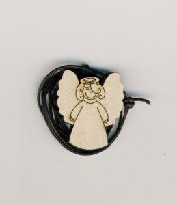 Iloinen enkeli -kaulakoru (koivunvärinen)