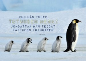 Kortti: Pingviinit (Joh.16:13)