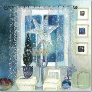 Joulukortti: Huone