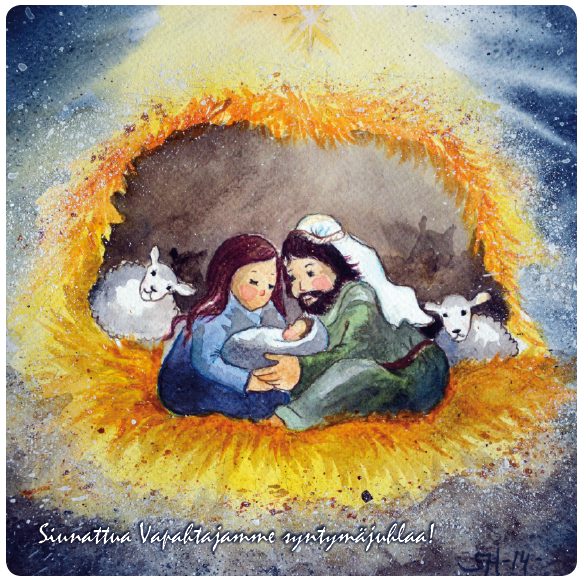 Tallin suojassa -joulukortti