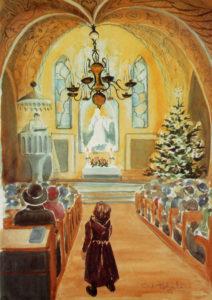 Joulukortti, Joulukirkko