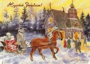 Joulukortti, Matka joulukirkkoon