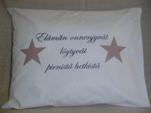 """Tyynyliina """"Elämän onnenjyvät"""" 50 x 60"""