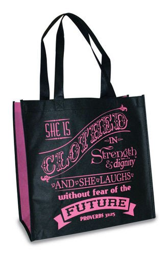 Eco tote -kassi, Proverbs 31:25