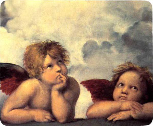 Hiirimatto Rafaelin enkelit (23x19cm)