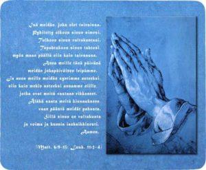 Hiirimatto Isämeidän -rukous (23x19 cm)