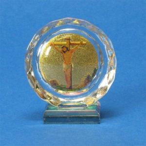 Kristalli-ikoni Jeesus ristillä
