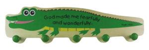Lasten naulakko, krokotiili
