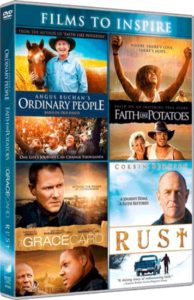4-DVD boxi: Angus Buchan's Ordinary People, Faith like Potatoes, Gracecard & Rust DVD