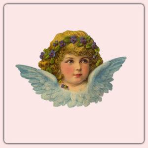 Postikortti taustatuella: Pikku enkeli