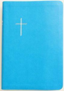 Raamattu, keskikoko, turkoosi, reunahakemisto, hopeasyrjä