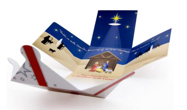 Lahjapaketti -joulukortti