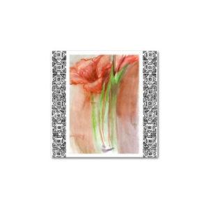 Postikortti: Amaryllis (kuorellinen)
