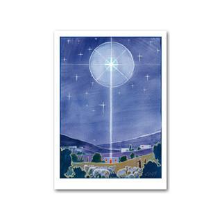 Joulun tähti (taittokortti kuorella)