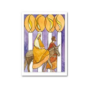 Matkalla (taittokortti kuorella)