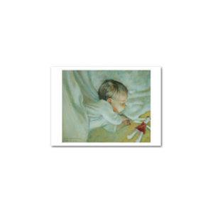 Postikortti: Nukkuva lapsi (kuorellinen)