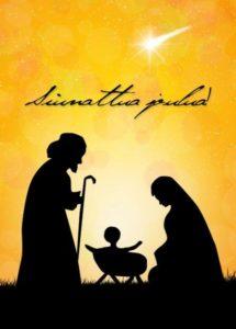 Joulukortti (Pyhä perhe)