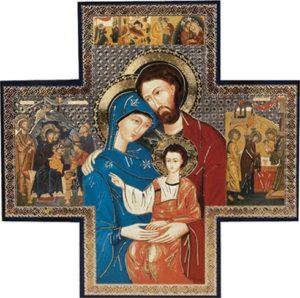 Ikoni -risti Pyhä perhe