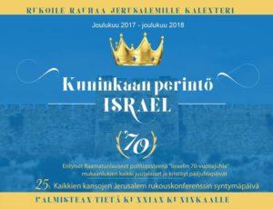 Rukoile Rauhaa Jerusalemille 2018 -rukouskalenteri