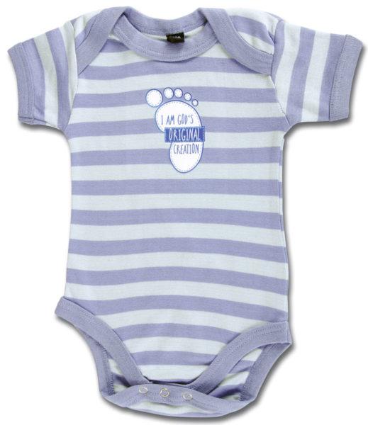 Vauvan body, siniraita