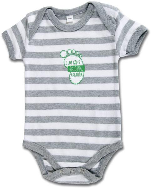 Vauvan body, harmaaraita