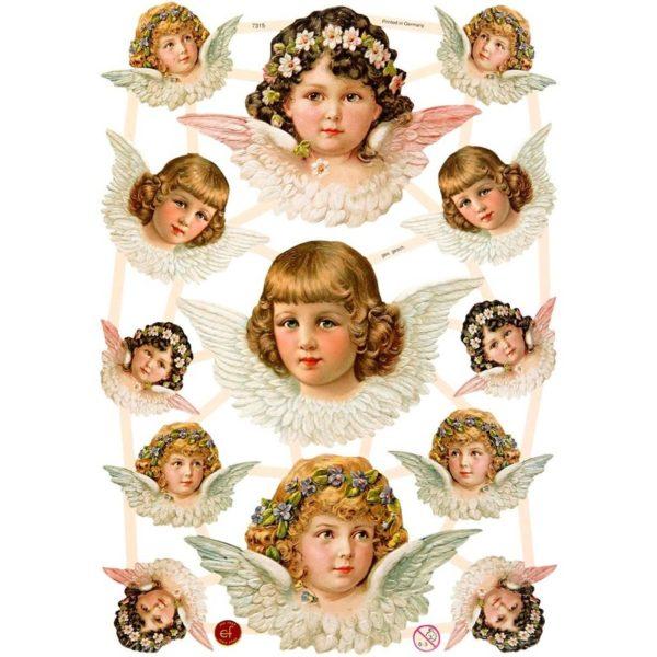Kiiltokuvat, enkelit, 3 arkkia