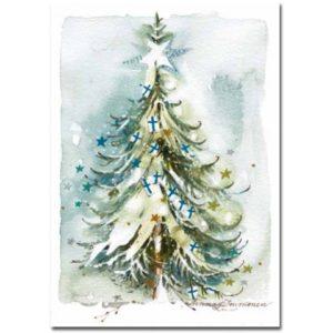 Joulukortti: Juhlakuusi