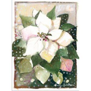 Joulukortti: Valkoinen joulutähti