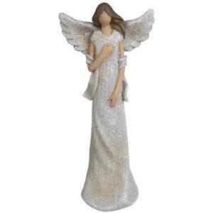 Kimalteinen beige enkeli