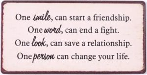 "Sisustusmagneetti ""One smile can start a friendship..."""