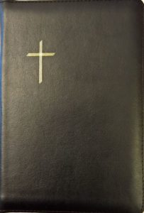 Keskikokoinen Raamattu, musta, vetoketju, reunahakemisto, kultasyrjä, RK