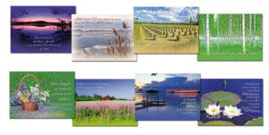 Hengellinen maisema -korttisarja 8 kpl lajitelma