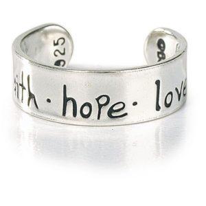 Varvassormus, Faith Hope Love, hopeaa, säädettävä