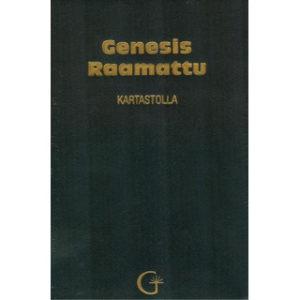 Genesis Raamattu Kartastolla (musta, nahkakantinen)