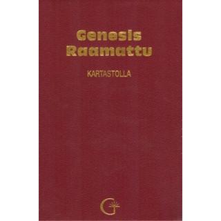 Genesis Raamattu Kartastolla (punainen, keinonahkakantinen)