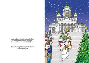 Joulukortti: Lucia-kulkue (2-osainen)