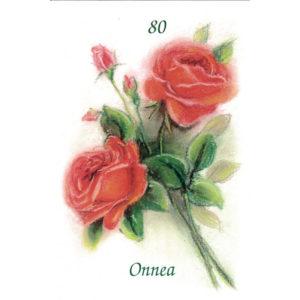 Kortti, Ruusukimppu, Onnea 80 v.