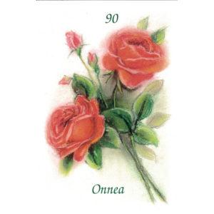 Kortti, Ruusukimppu, Onnea 90 v.