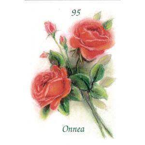 Kortti, Ruusukimppu, Onnea 95 v.