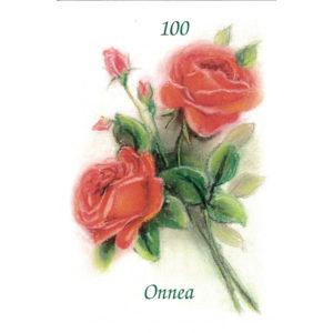 Kortti, Ruusukimppu, Onnea 100 v.