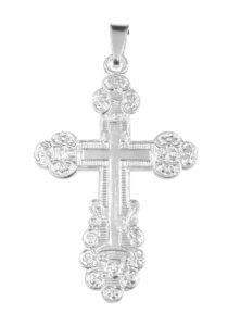 Hopeinen rippiristi (ortodoksi) ketjulla 506800