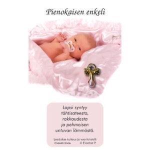 Enkeli-pinssi Pienokaiselle, pinkki