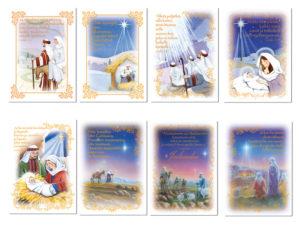 Joulukortteja, 8 kpl lajitelma (Ja tapahtui niinä päivinä)