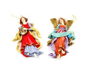 Muoviset roikkuvat koriste-enkelit (2 kpl)